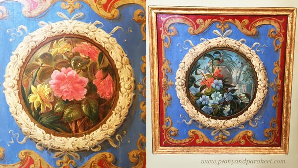 Decorative floral panels from Vatican Museums