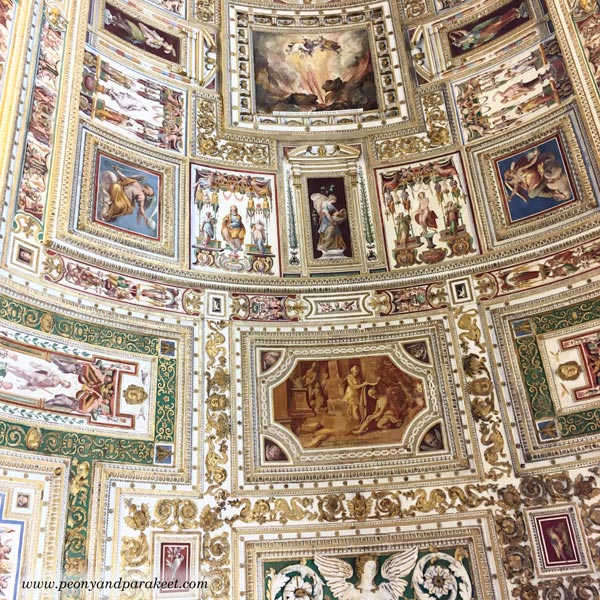 A beautiful ceiling from Vatican Museums.