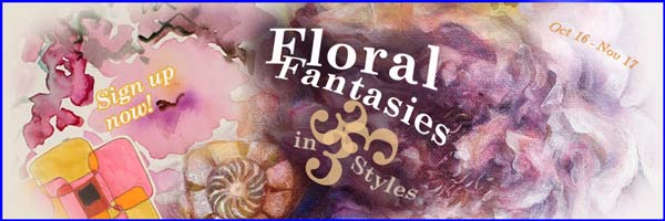 Floral Fantasies in Three Styles, a flower painting online workshop by Peony and Parakeet