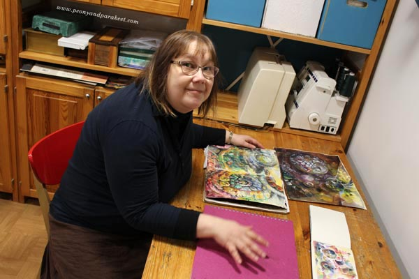 Paivi Eerola and her art journals.