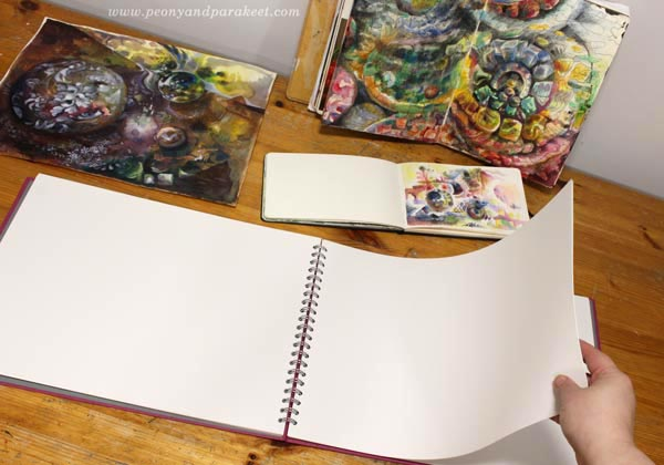 Paivi Eerola's art and her new sketchbook by The Pink Pig.