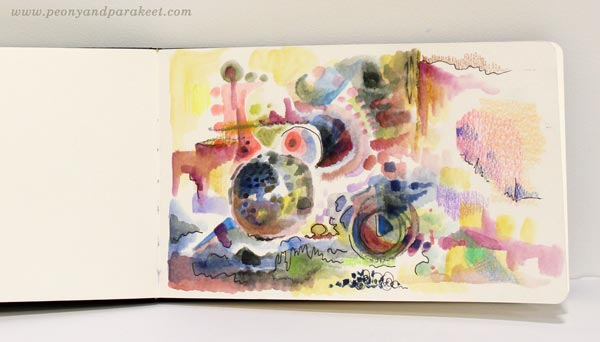 Moleskine watercolor journal. By Paivi Eerola from Peony and Parakeet.