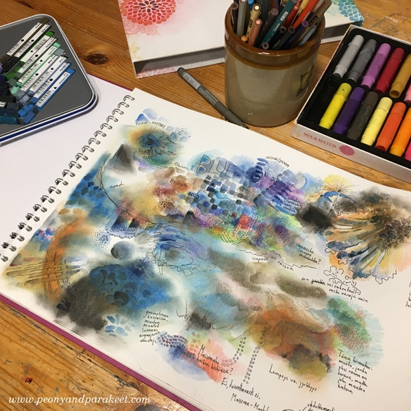 Are you a lazy art journaler? See this method! By Paivi Eerola from Peony and Parakeet.