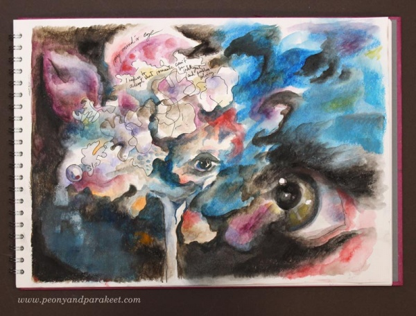 My Mind's Eye by Paivi Eerola from Peony and Parakeet. See her tips on how to make your art more captivating!