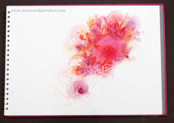 Explosion of color. See step-by-step instructions on how to finish this art journal page!