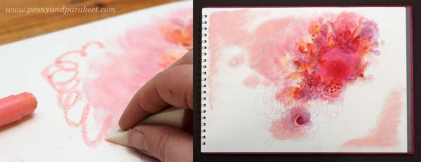 Using Faber-Castell Gelatos for mixed media art. See how you can combine them with other art supplies!