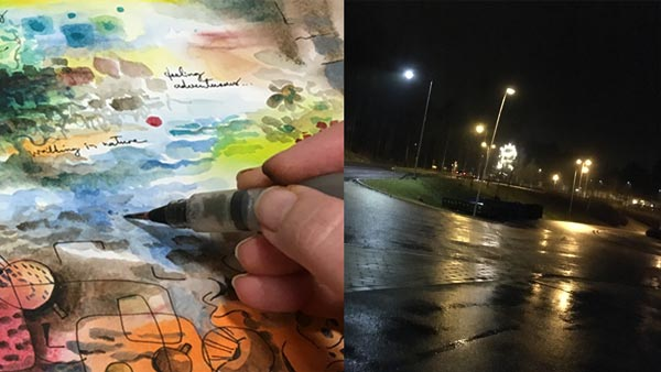 Paivi Eerola's sketchbook and the darkness in Finland