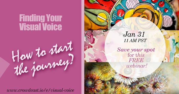 Finding Your Visual Voice, webinar for visual artists by Paivi Eerola from Peony and Parakeet.