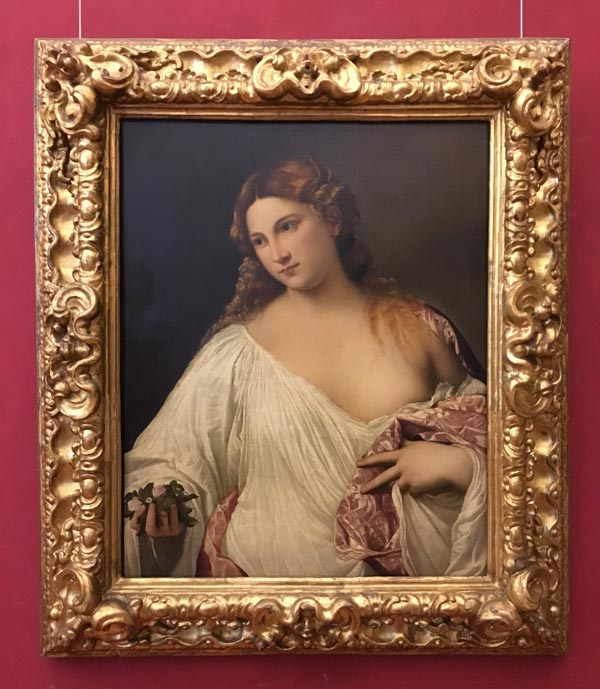 Flora by Tiziano Vecellio. Uffizi gallery. Photo by Paivi Eerola from Peony and Parakeet.