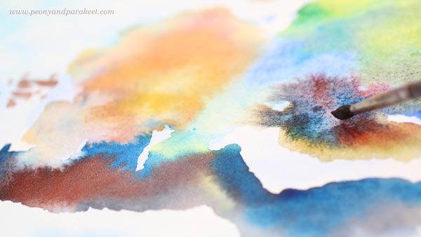 Painting with Daniel Smith watercolors