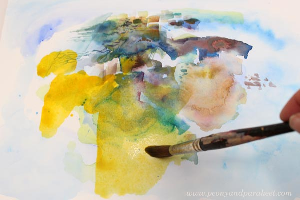 Loosening up with Daniel Smith watercolors. By Paivi Eerola from Peony and Parakeet.