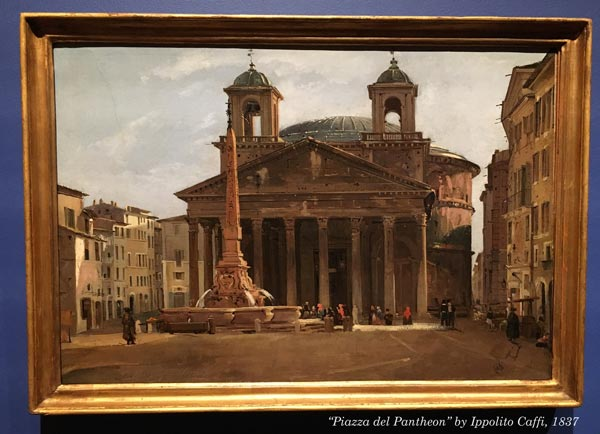 Piazza del Pantheon by Ippolito Caffi, 1837