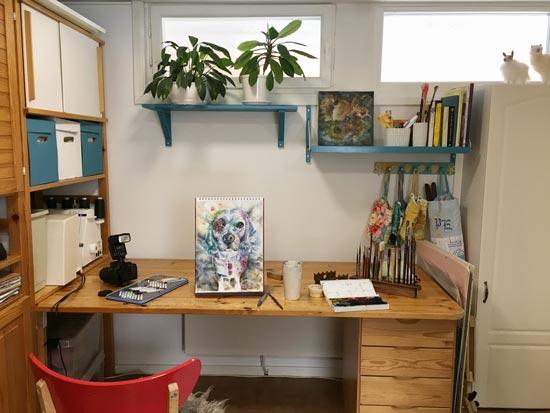 Paivi Eerola's art studio.