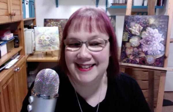 Paivi Eerola broadcasting live from her studio. Join her live broadcasts about creating art and growing as an artist!