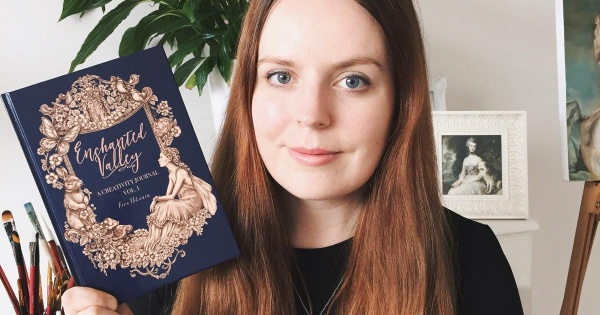 Eeva Nikunen and her Creative Journal.
