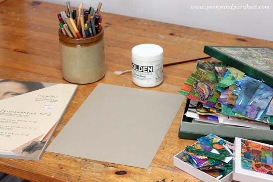 Creating colored pencil collages by Paivi Eerola from Peony and Parakeet. See the step-by-step instructions!