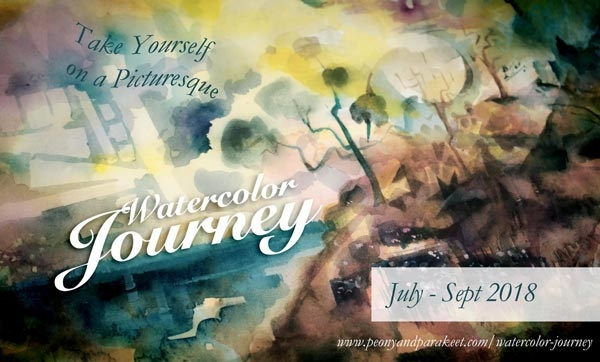 Watercolor Journey, an online watercolor art class by Paivi Eerola from Peony and Parakeet