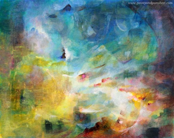Light Chaser, an acrylic painting by Paivi Eerola from Peony and Parakeet