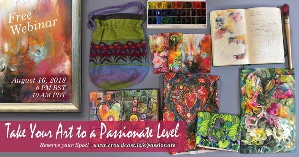 Take Your Art to a Passionate Level - Free Live Webinar by Paivi Eerola from Peony and Parakeet. Reserve your spot: https://www.crowdcast.io/e/passionate