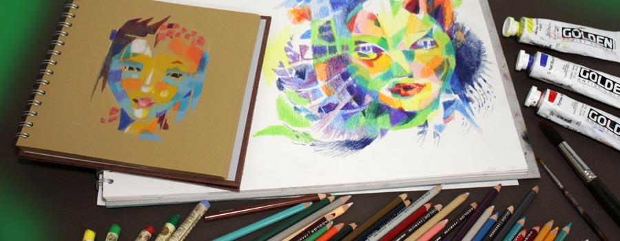 Innovative Portraits, an online art class by Paivi Eerola from Peony and Parakeet.