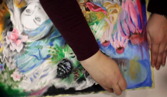 Sneek peek to Innovative Portraits - an online art class by Paivi Eerola from Peony and Parakeet.