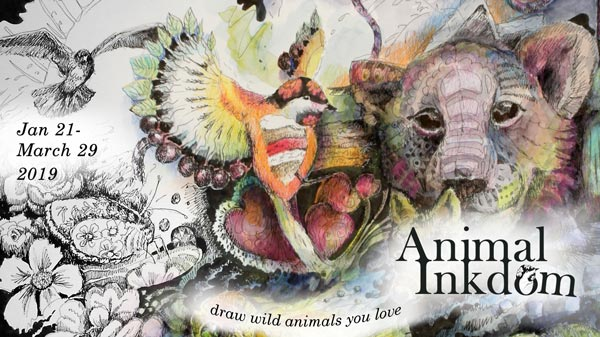 Animal Inkdom, an online drawing class by paivi Eerola from Peony and Parakeet.