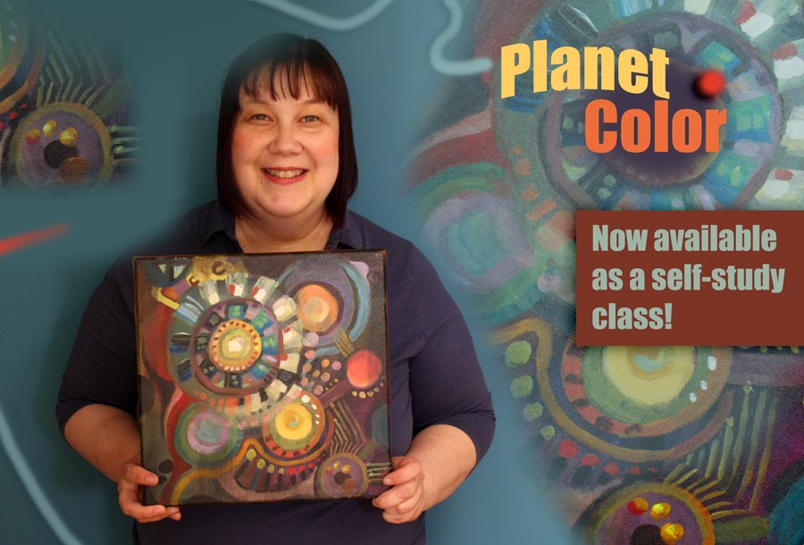 Planet Color, an online art class by Paivi Eerola of Peony and Parakeet