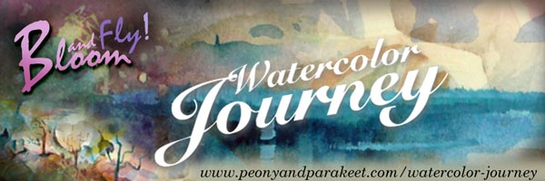 Watercolor Journey - online class about painting landscapes in watercolor