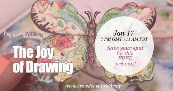 The Joy of Drawing, a free webinar by Paivi Eerola from Peony and Parakeet