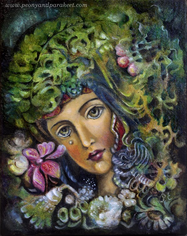 Madonna of the Heart, an oil painting by Paivi Eerola from Peony and Parakeet.