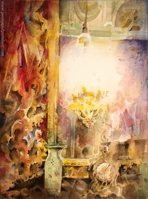 """Heritage"" - a watercolor painting by Paivi Eerola from Peony and Parakeet."