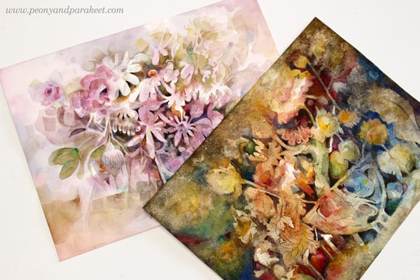 Watercolor Still Lives by Paivi Eerola from Peony and Parakeet
