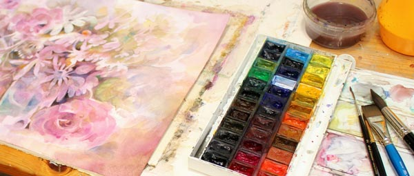 Painting with watercolors by Paivi Eerola from Parakeet