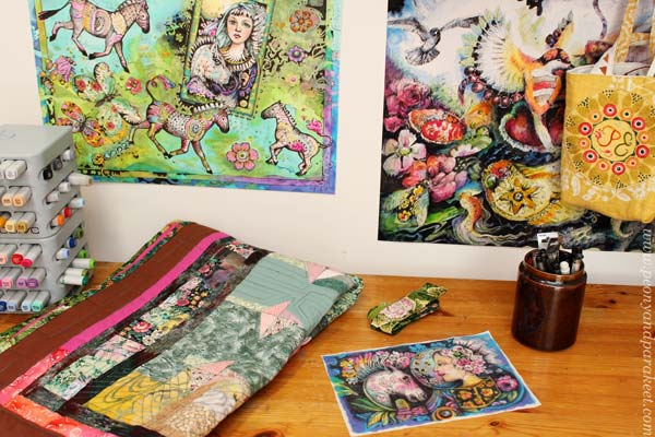 Fabric and art studio by Paivi Eerola from Peony and Parakeet.