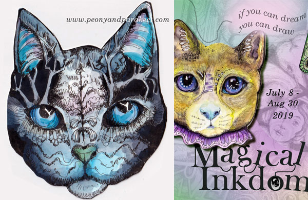 Magical Inkdom, an online art class by Paivi Eerola of Peony and Parakeet.