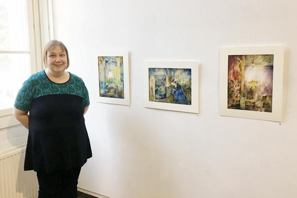 Paivi Eerola, a late bloomer in art, an artist from Finland, and her watercolor paintings.