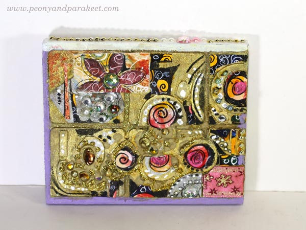 Mixed media collage. See how this project continued in Paivi Eerola's artistic journey.
