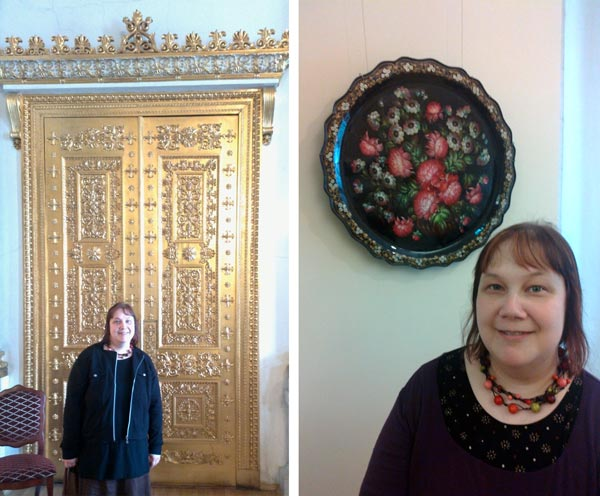 Paivi Eerola at museums in St. Petersburg, Russia.