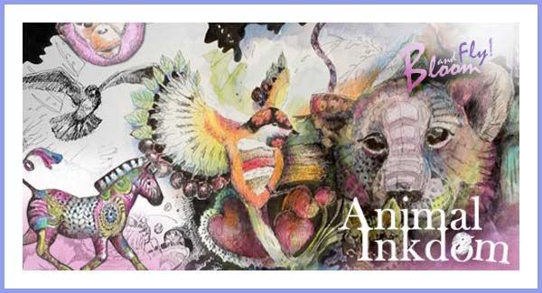 Online art class Animal Inkdom. Taught by Paivi Eerola, a Finnish illustrator.