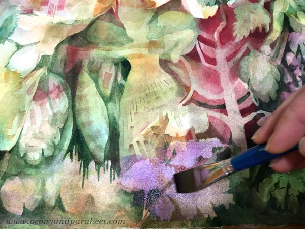 Intuitive art in progress. By Paivi Eerola of Peony and Parakeet.