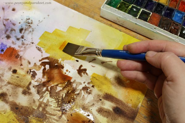 Trying out Roman Szmal Aquarious Quinacridone Gold. Experimenting with watercolors.