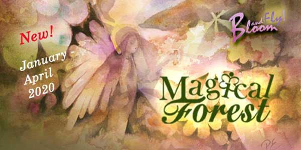 Magical Forest, an online art class by Paivi Eerola of Peony and Parakeet. Move from portraits to stories and paint nature and fairies in watercolor!