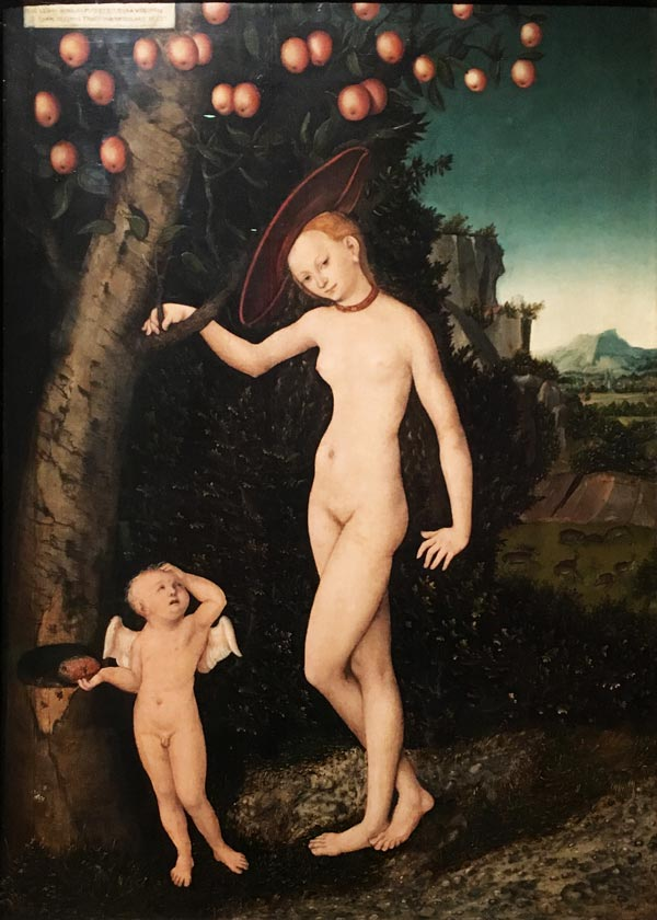 Lucas Cranach the Elder, Venus and Cupid the Honey Thief