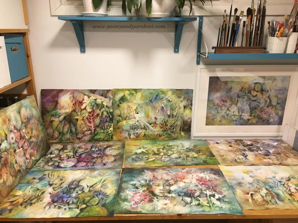 Paivi Eerola's watercolor studio.