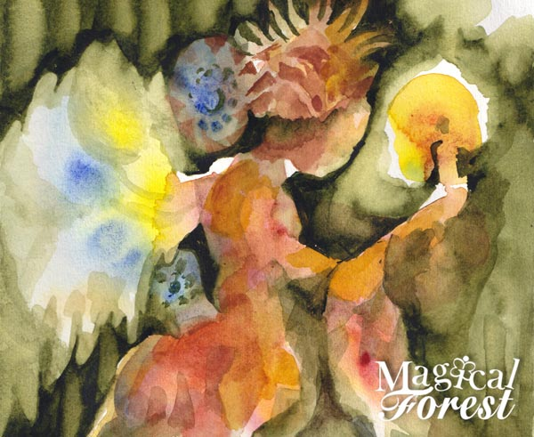 Magical Forest, an online class about expressive watercolor painting by Paivi Eerola of Peony and Parakeet.