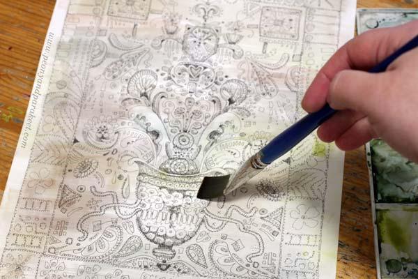 Doodler's Sampler in progress. See the step by step instructions!