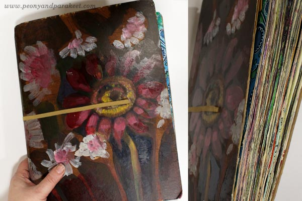 Large Dylusions Creative Journal, review by Paivi Eerola