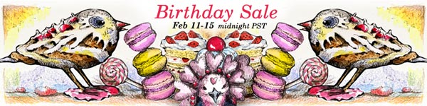 Birthday Sale, Feb 11-15, 2020