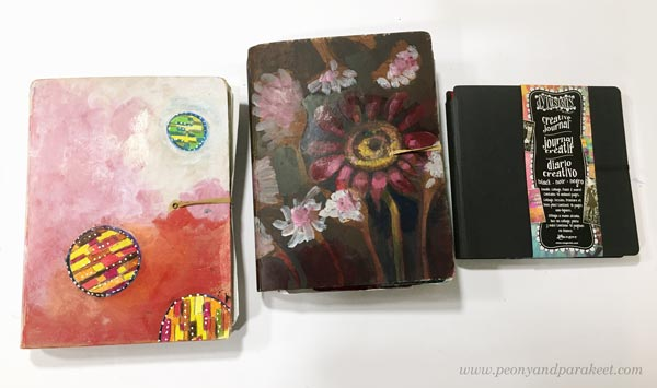 Dylusions Creative Journals with decorated covers