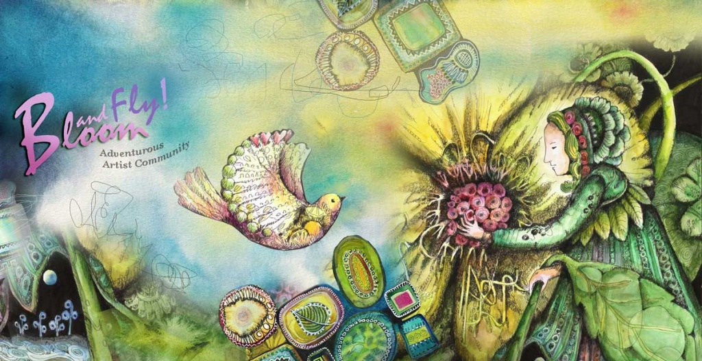 Bloom and Fly - adventurous artist community, led by Paivi Eerola of Peony and Parakeet